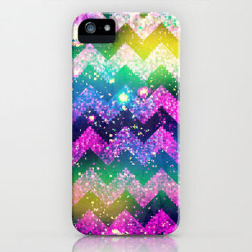 NEON CHEVRON PIXEL 2 - for iphone iPhone & iPod Case by Simone Morana Cyla | Society6