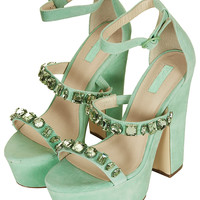 LEAH JEWEL PLATFORM SANDALS