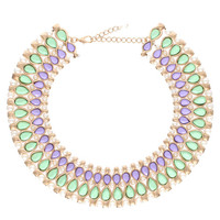Beautiful Lavender Pearls Collar Necklace