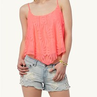 Daisy Crochet Crop Swing Tank