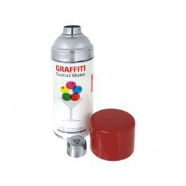 graffiti cocktail shaker