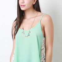 Side Lace Cami Top