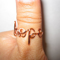 Hope Ring Copper Wire Wrapped by aLilJazzJewelry on Etsy