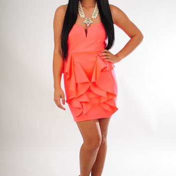 Live For The Applause Dress: Neon Pink