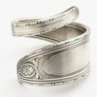 Spoon Ring Lovely Hand Engraved Art Deco Lunt Sterling Silver 1067 | Spoonier - Jewelry on ArtFire