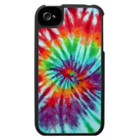 Green Spiral Tie-Dye iPhone 4 from Zazzle.com