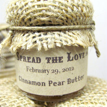 Custom Wedding Favor Farm Wedding Jam Favors by SweetCarolineJams