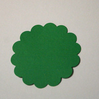 100 Green Cardstock Scallop Circles by BayleafButtons on Etsy