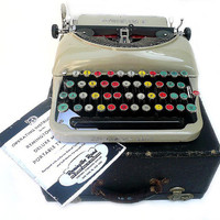 PROFESSIONALLY SEVICED 1930 Remington Colored Glasskey Typewriter