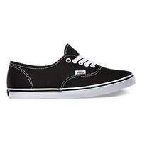 Vans Canvas Authentic Lo Pro, Girls (black/true white)