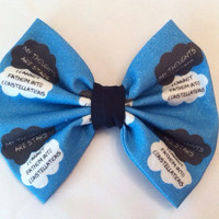 The Fault In Our Stars Inspired Medium Sized Hair Bow, John Green, Tfios, Hazel, Augustus Waters, Nerdfighter