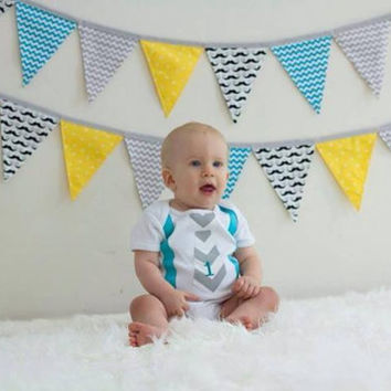 Chevron faux tie suspenders one piece bodysuit first birthday one photo prop outfit shirt