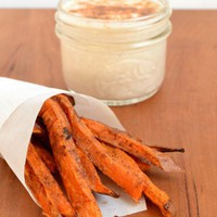 Sweet Potato Fries with Cinnamon Yogurt Dip | Food Doodles