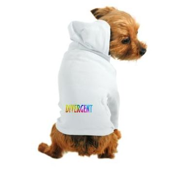 Divergent Colorful Dog Hoodie - Girl Tease