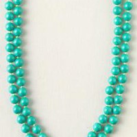 La Coco Turquoise Bead Necklace
