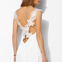 Oh My Love Crossover Lace Slip Dress - Urban Outfitters