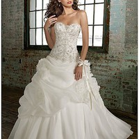 Elegant Satin A-line Sweetheart Wedding Dress