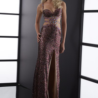 Jasz Couture 5062 - Purple Beaded Cut Out Prom Dresses Online