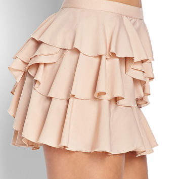 FOREVER 21 Ruffled Mini Skirt