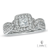 Vera Wang LOVE Collection 1-1/5 CT. T.W. Princess-Cut Diamond Ring in 14K White Gold - View All Rings - Zales