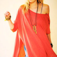 Free People Big Dipper Oversized Tee
