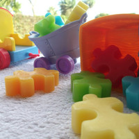 Jig Saw Puzzle Soap Red blue green yellow & by Scentcosmetics