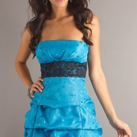 Empire Strapless Blue Short/Mini Dress at Dresseshop