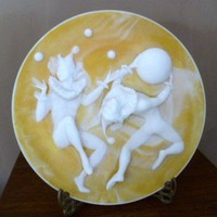 Avondale Incolay Court Jester Plate Almazetta Casey Ltd. Edition | RefinedVintage - Fine Art on ArtFire