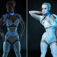 Artifice Products - Glowing trim Angled thigh corsets