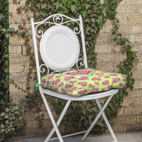 Lisa Argyropoulos Watermelon Love Sunny Yellow Outdoor Seat Cushion