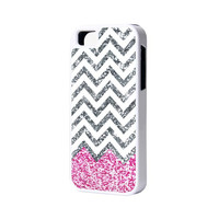 Glitter Pink Chevron iPhone Cases and Samsung Cases