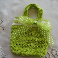 Girl Tote or Purse, Crochet Pattern PDF 12-011 | ThePatternParadise - Bags & Purses on ArtFire