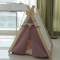Purple mini dog indian tent, pet house, teepee tent