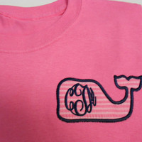 Vineyard Vines Lily Pulitzer Inspired Monogrammed  Font shown MASTER CIRCLE