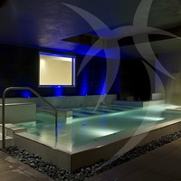 Hydromassage swimming pool by Happy Sauna