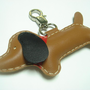 BIG Jemma The Dachshund Leather Charm ( Brown ) | Luulla