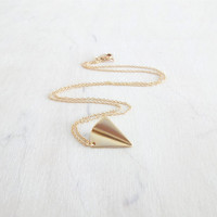 Gold Paper Airplane Necklace, Delicate Fine Gold Chain, Simple Modern Necklace