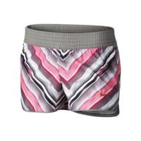 Nike Pattern Girls' Shorts - Dark Base Grey