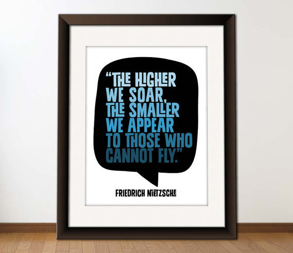 $18.00 Typography Quote Poster Digital Art Print  Flying by typographics