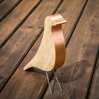 Eames bird remake home decor item design icon simplified Coper natural wood