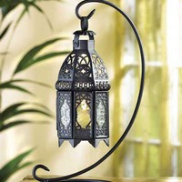 Tabletop Candle Lantern - Black