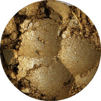 Mineral Eye shadow yellow gold eyeshadow by pinkblossomcosmetics