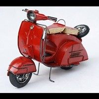 Handmade Antique Tin Model Motorbike-Italy Scooter