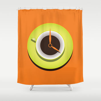 It's Coffee Time Shower Curtain by Boriana Giormova