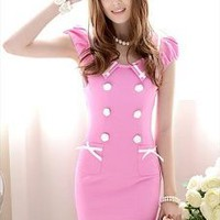 Pretty In Pink Puff Sleeve Dress