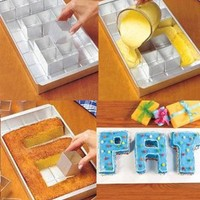 TabStore DBPower® Alphabet Letters Number Tin Pan Fondant Mold