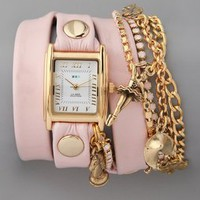 La Mer Collections Crystal Ballerina Charm Watch | SHOPBOP