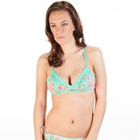 The Bikini Lab Juniors Roses Peek-A-Boo Bralette Bikini Top at Von Maur