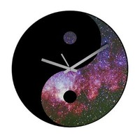 Yin Yang Space Symbol - Girl Tease Wall Clock> Home Decor> Girl Tease