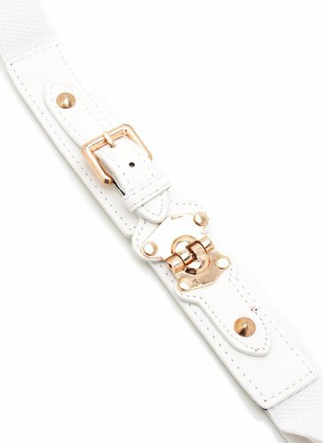 buckle stretch belt $6.90 in BLACK WHITE - Belts | GoJane.com